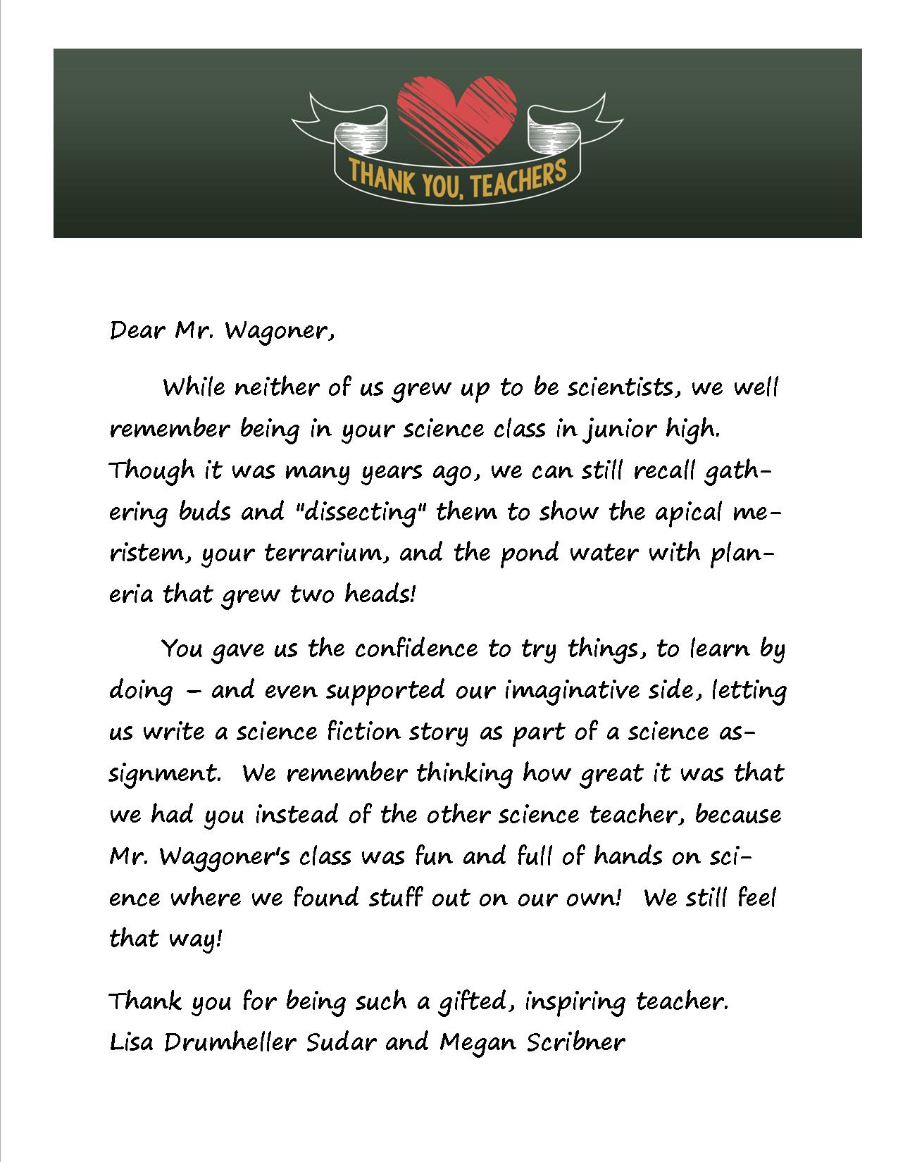 Write Letter To Teacher Thank You Choice Image Letter Format