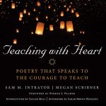 Cover of Teaching with Heart, lit lanterns falling from a black sky