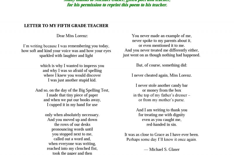 Thank You Teachers Archives Teaching With Heart Fire And Poetry